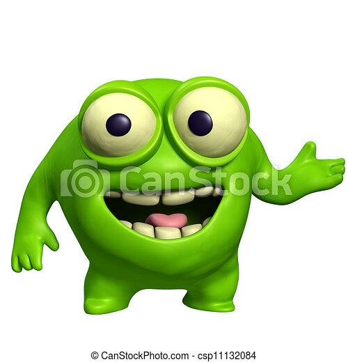 green cute monster - csp11132084