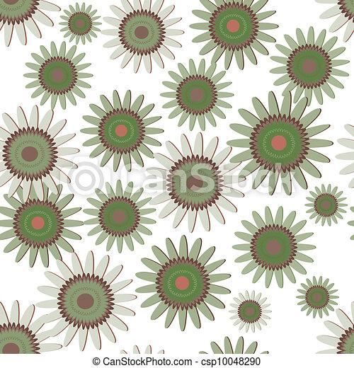 Green daisy - csp10048290