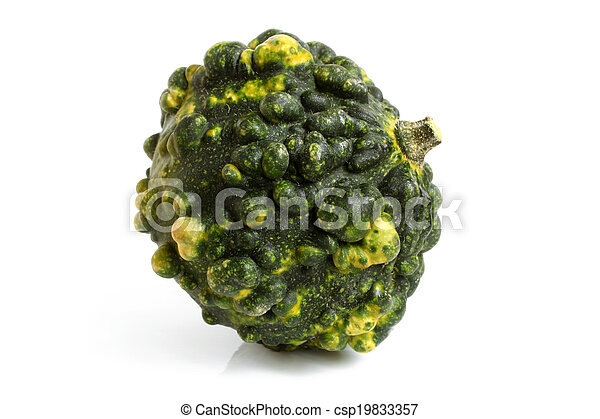 Green decorative pumpkin - csp19833357