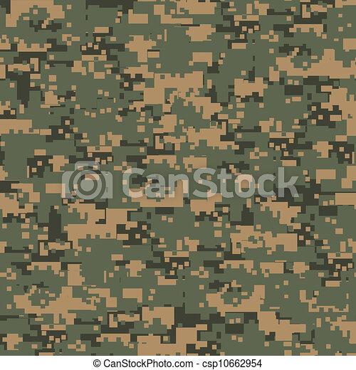 Green digital camouflage - csp10662954