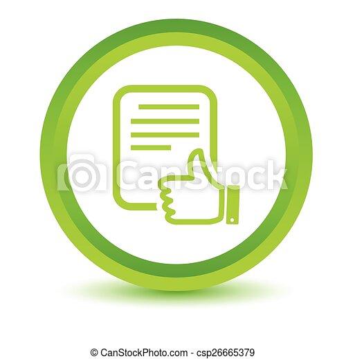 Green Document icon - csp26665379