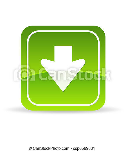 Green Download Icon - csp6569881
