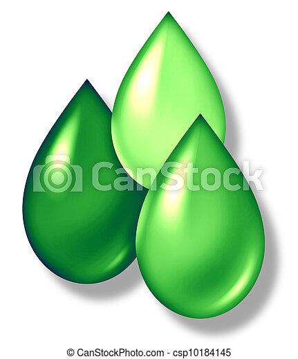 Green Drops Symbol - csp10184145