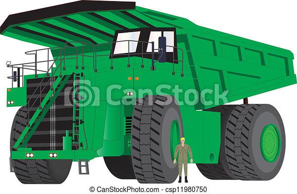 Green Dumper Truck - csp11980750