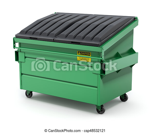 green dumpster green trash container or recycle dumpster on white rh canstockphoto com garbage dumpster clipart trash dumpster clipart