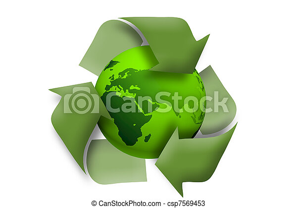 Green earth recycle concept  - csp7569453