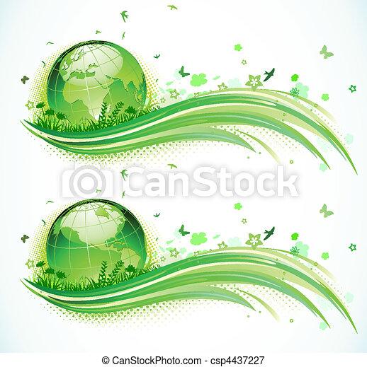 Green eco Background - csp4437227