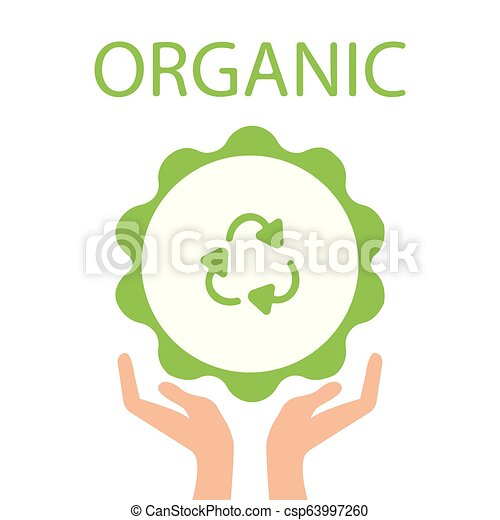 Green Eco Earth, Hand holding Recycle symbol. Vector Illustration. - csp63997260