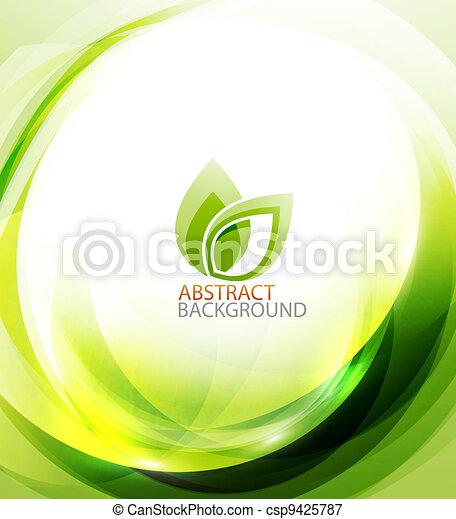 Green eco energy background - csp9425787