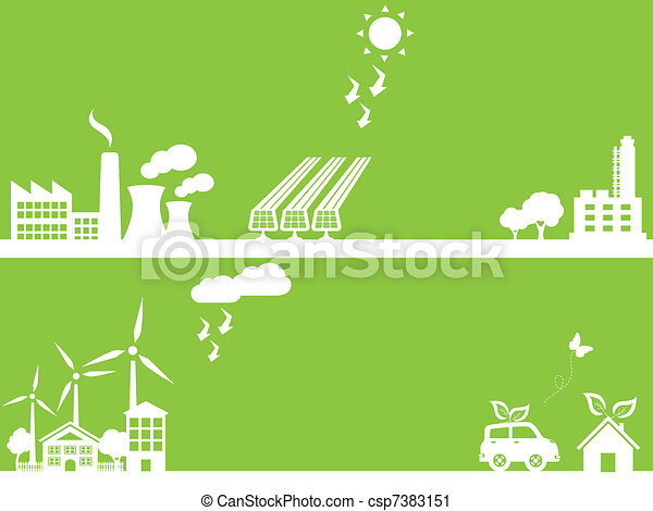 Green eco friendly city - csp7383151