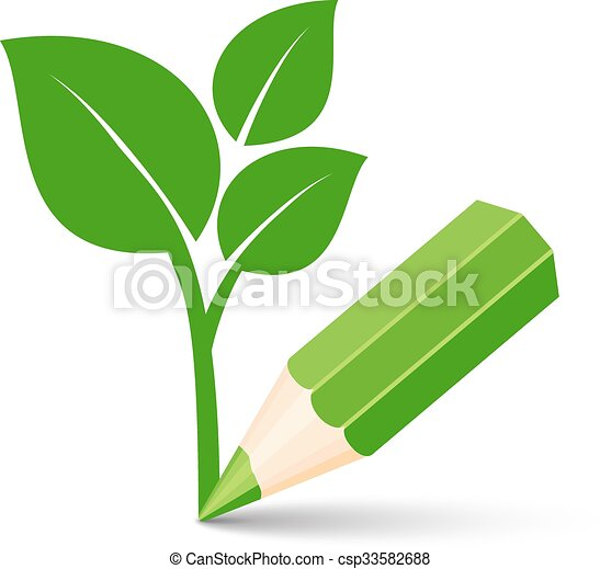 green eco icon - csp33582688