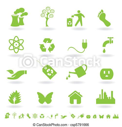Green eco icon set - csp5791666