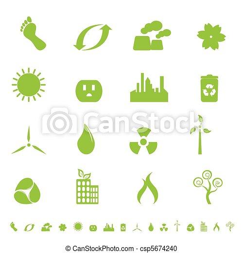 Green ecology and environment symbols - csp5674240