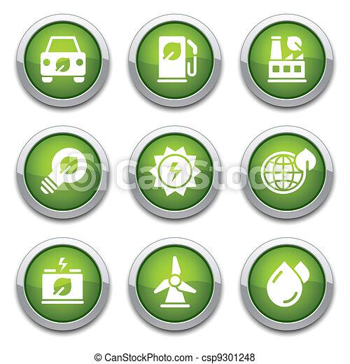 Green ecology buttons - csp9301248