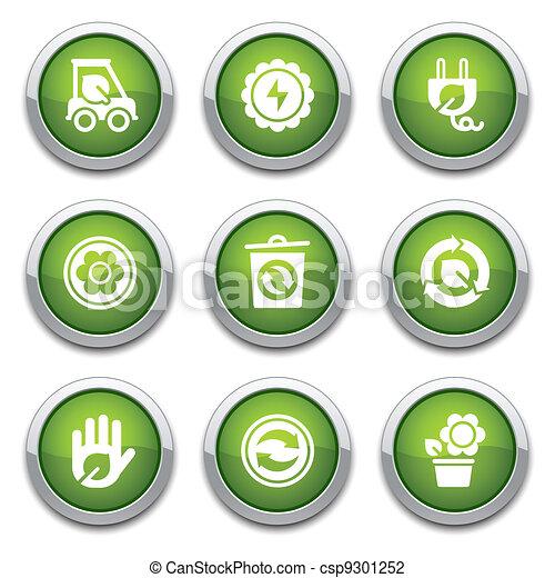 Green ecology buttons - csp9301252