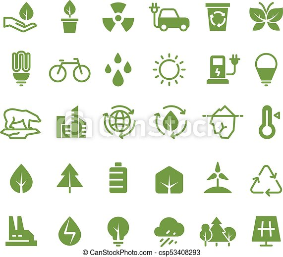 Green Ecology Vector Icons Clean Environment Recycling