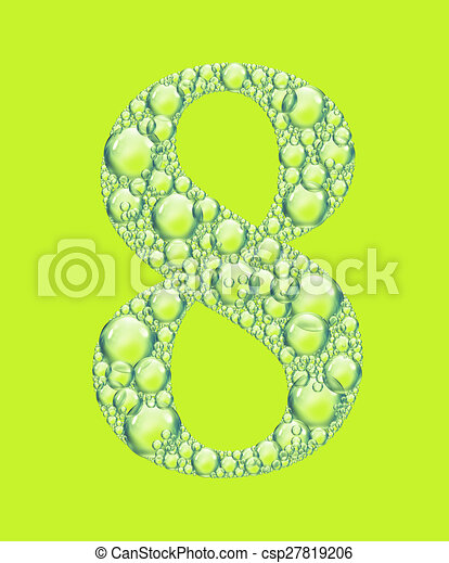 green eight bubbles - csp27819206