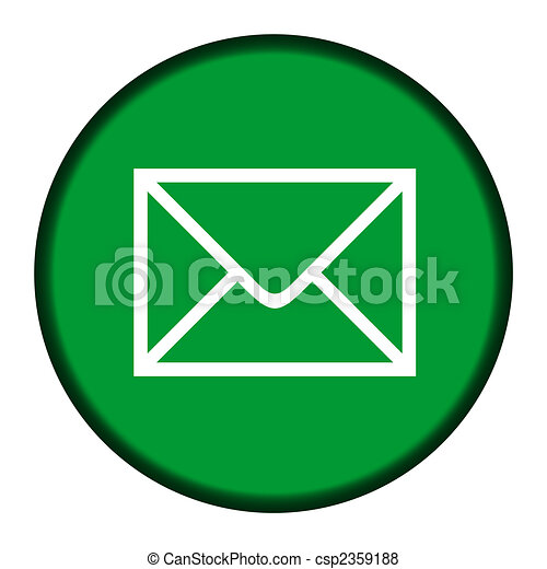 Green email icon button - csp2359188