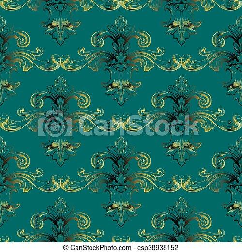 Green Emerald Baroque Vintage
