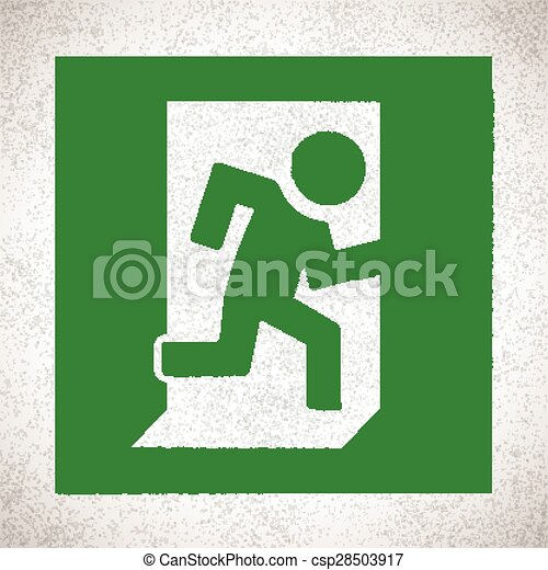 Green Emergency Exit Sign - csp28503917