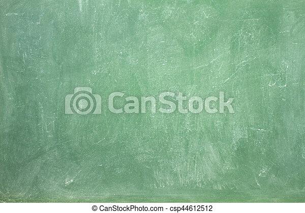 Green empty chalkboard - csp44612512