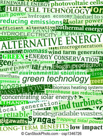 Green energy headlines - csp1346726