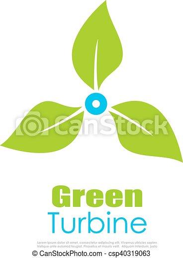 Green energy logo - csp40319063