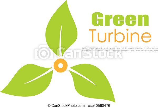 Green energy logo - csp40560476