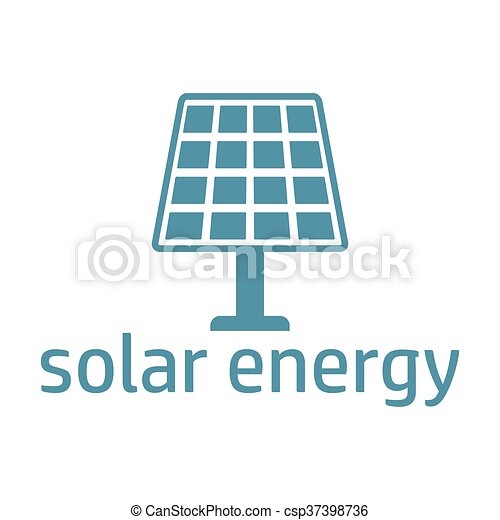 green energy logo solar panel - csp37398736