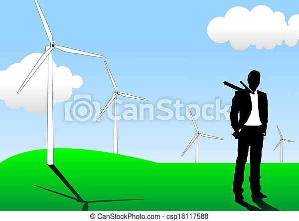 Green energy - csp18117588