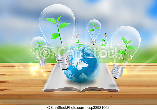 Green energy symbol.nature concept
