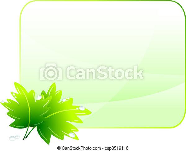 Green Environmental Conservation Background - csp3519118