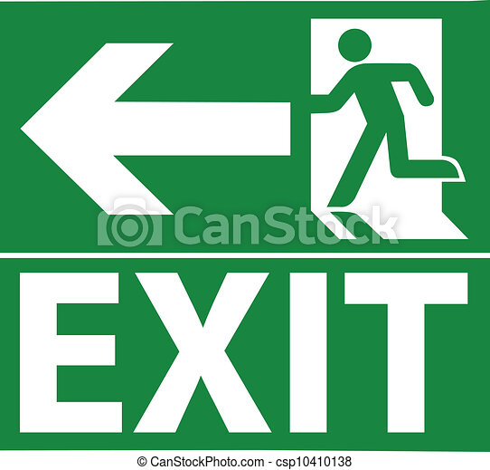 Green exit emergency sign - csp10410138