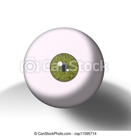 green eye ball  - csp11595714