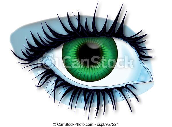 Green eye - csp8957224
