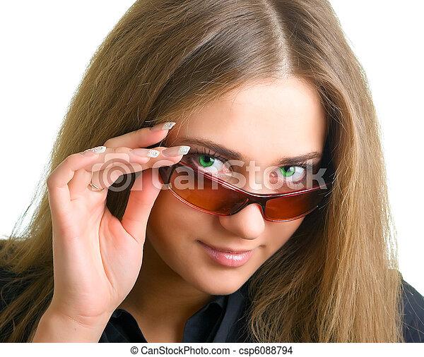 green-eyed girl - csp6088794
