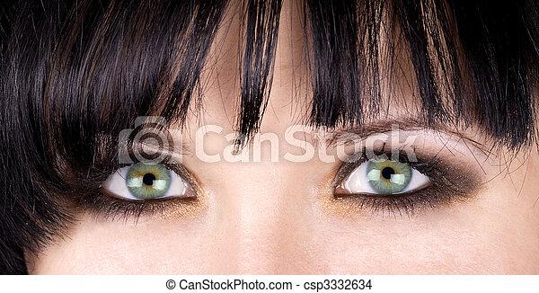 Green eyes - csp3332634