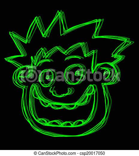 Green face - csp20017050