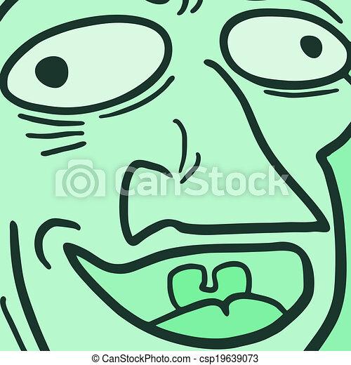 Green face - csp19639073