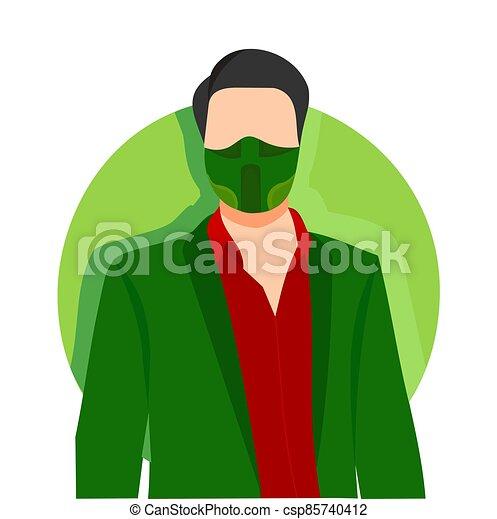 green face mask - csp85740412