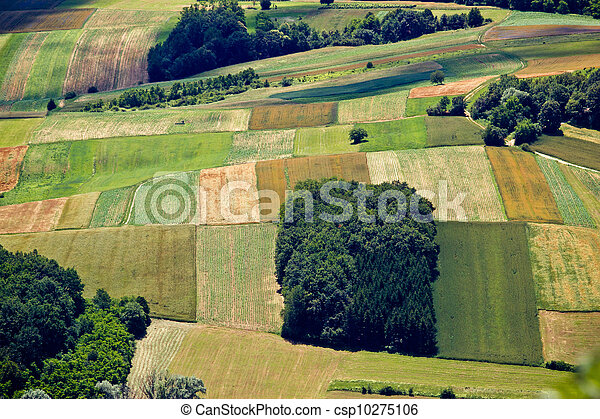Green field layers aerial view - csp10275106