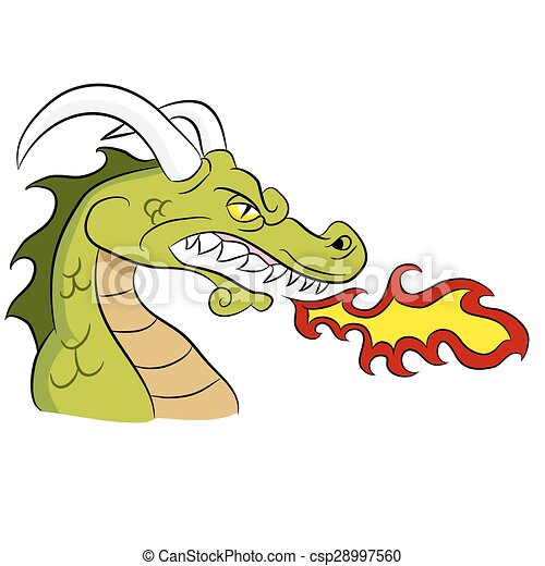green fire breathing dragon an image of a cartoon fire clip art rh canstockphoto co uk child breathing clipart deep breathing clipart