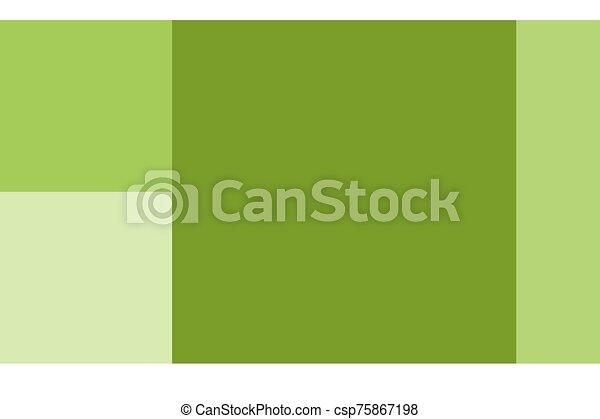Green fish on white background - csp75867198