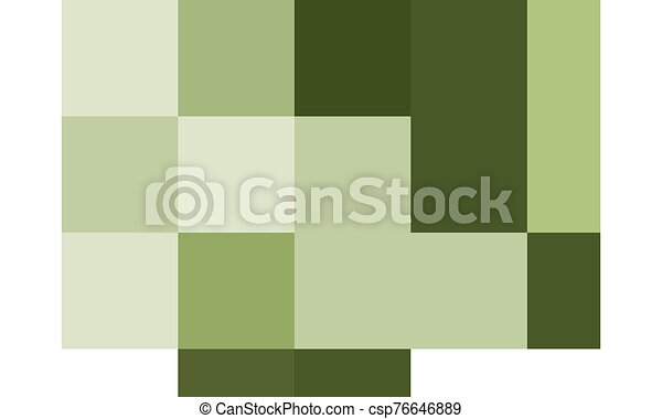 Green fish on white background - csp76646889