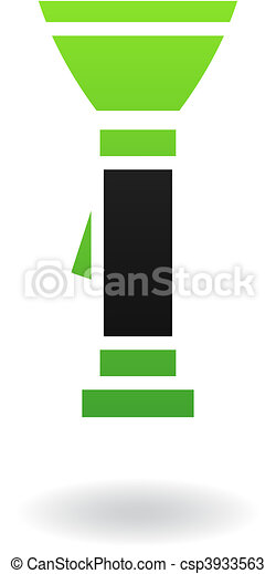 Green flashlight - csp3933563
