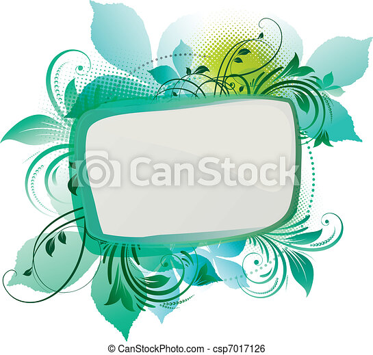 Green Floral Background - csp7017126