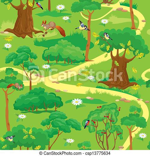 Green Forest Landscape  - csp13775634