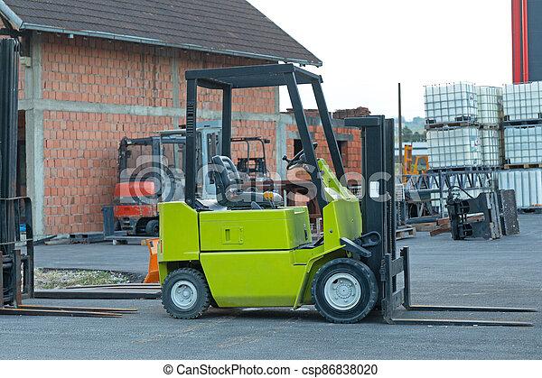 Green Forklift Truck - csp86838020