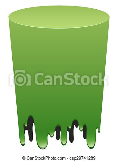 Green form on white background - csp29741289