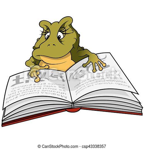 Green Frog Reading Book - csp43338357